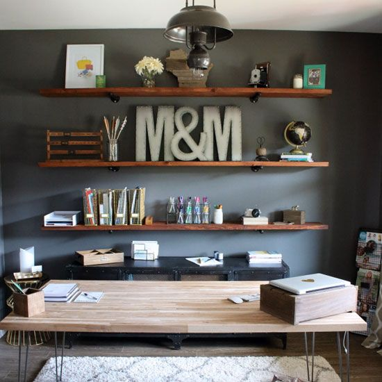 Install These Diy Industrial Inspired Wood Shelves In Your Home