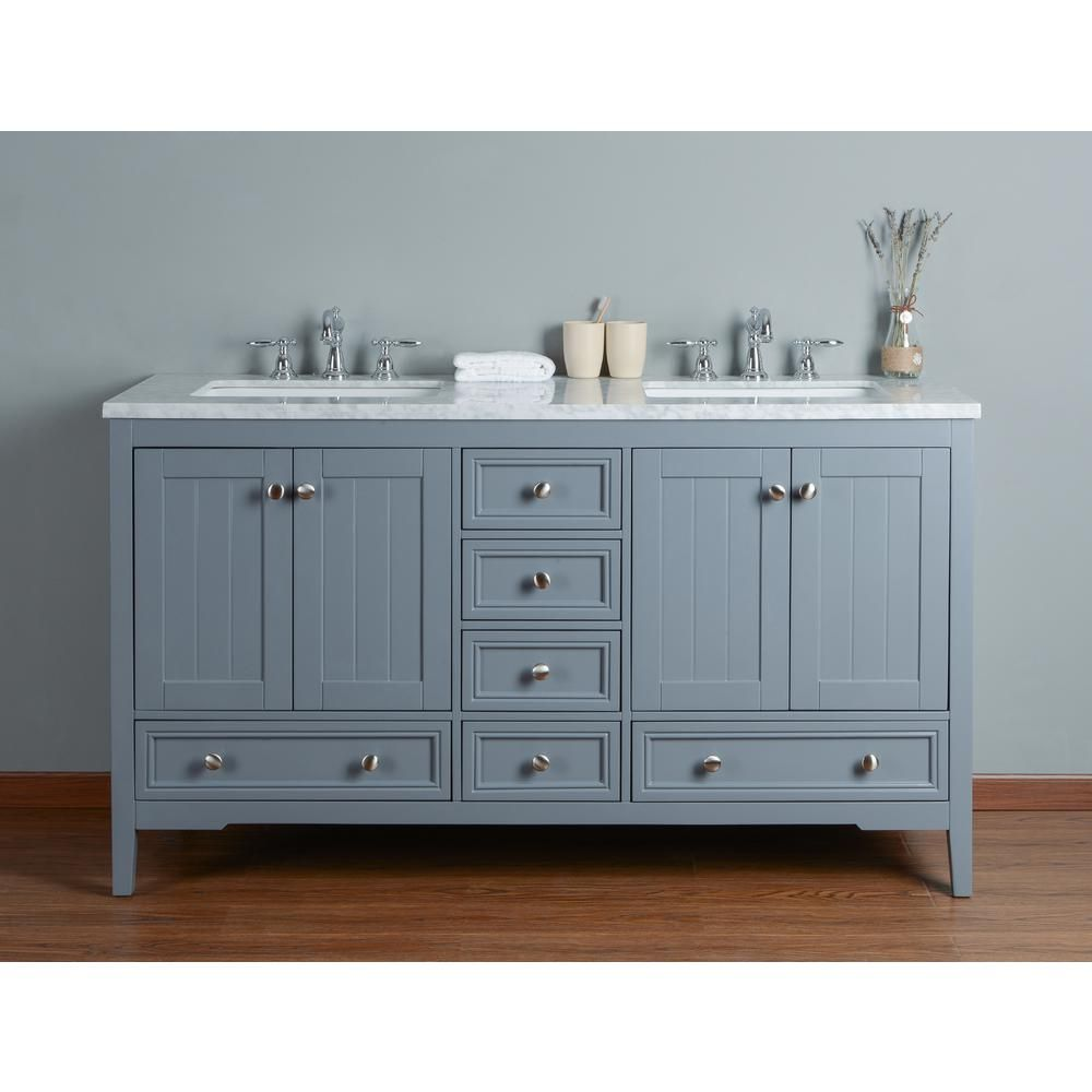 Double sink white bathroom vanities stufurhome new yorker  in grey double sink bathroom vanity with