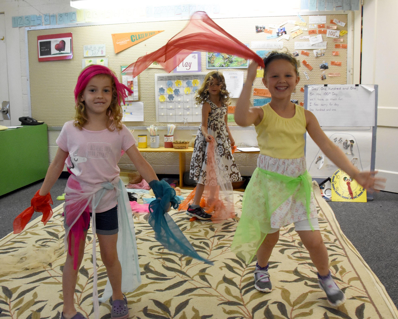 Kindergarten Scarf Dancing | Preschool movement activities ...
