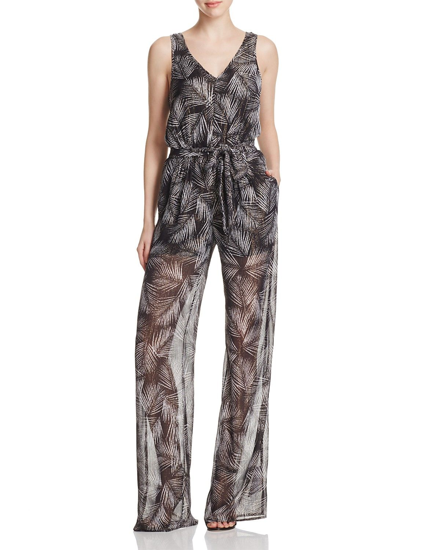 michael michael kors metallic palm print jumpsuit spring summer rh pinterest ca