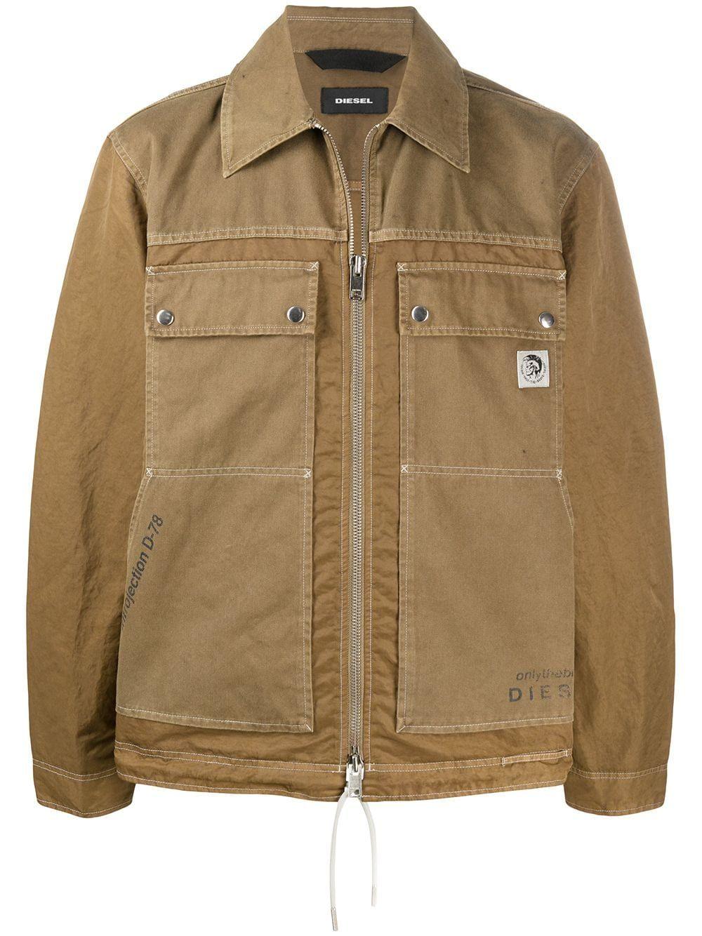 Diesel Stitch Detail Workwear Jacket Farfetch In 2021 Jackets Clothing Design Details Work Wear [ 1334 x 1000 Pixel ]