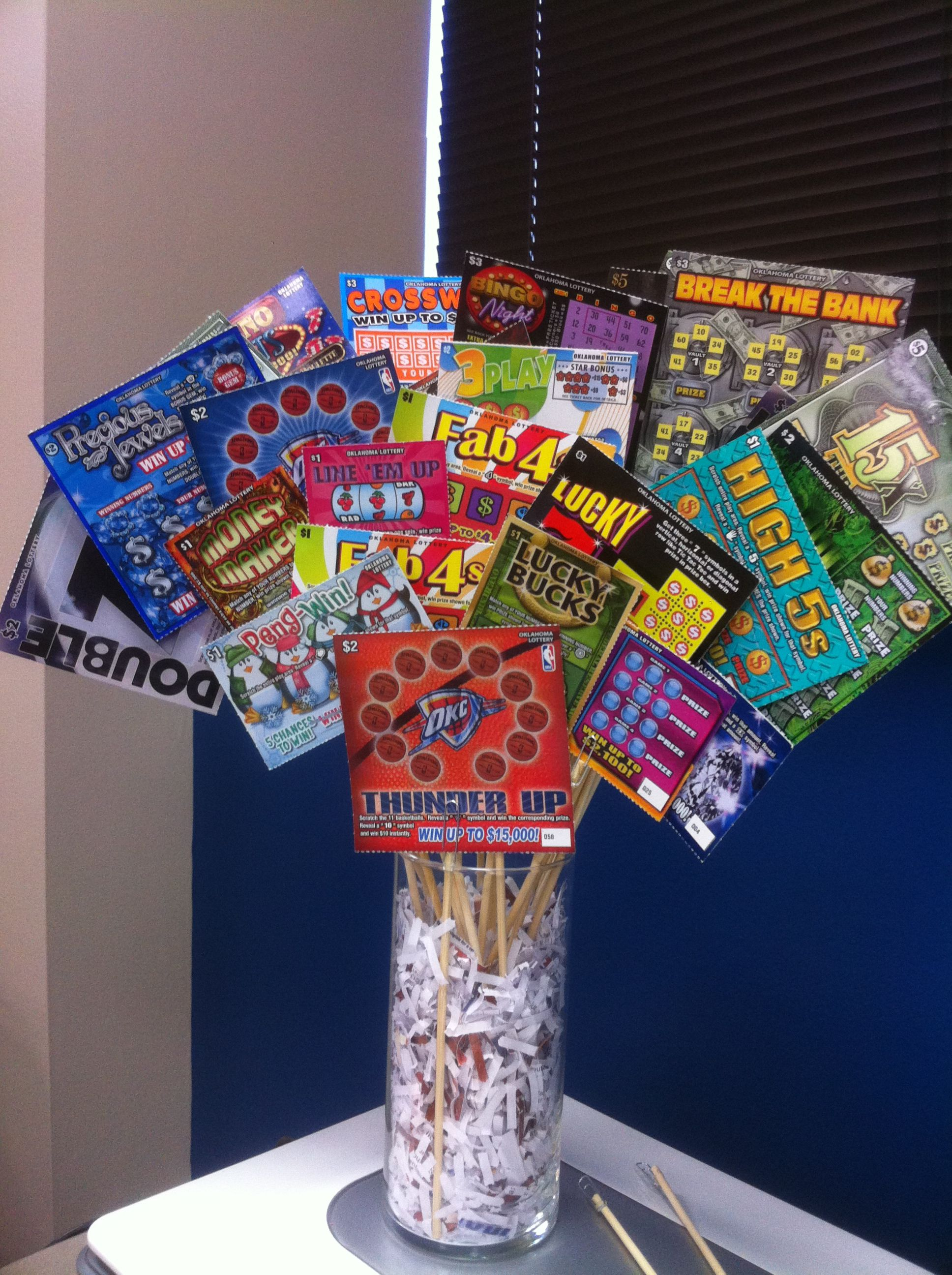 scratcher ticket auction basket