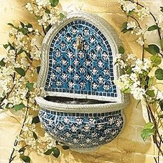 Home Improvement   Outdoor Wall Fountains With Tile   Mediterranean Style    Tuscany Style
