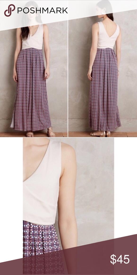 50346c0c4370 Anthropologie Maeve Elysian Maxi Dress Size XS