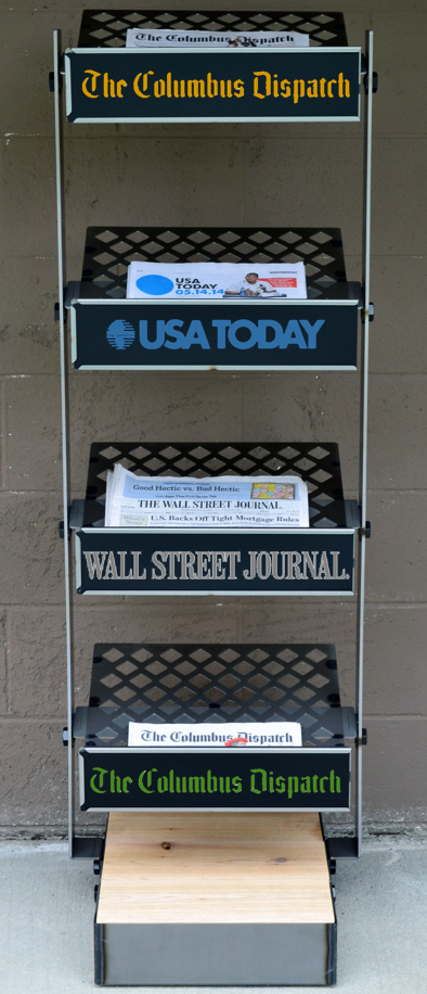 stylish newspaper rack newspaper wall street journal on wall st journal id=52581