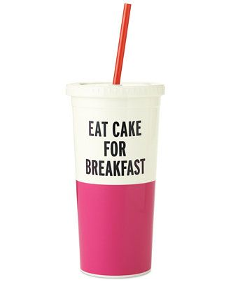 kate spade new york Insulated Tumbler with Straw - Handbags & Accessories - Macy's