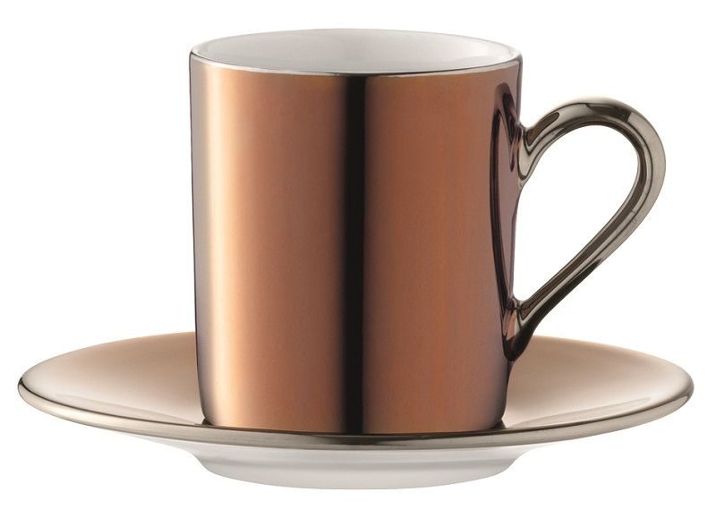 Lsa Remi Copper Coffee Cup And Saucer Set Amara