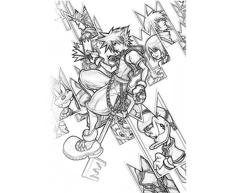 Kingdom Hearts Coloring Pages | coloring pages | Pinterest