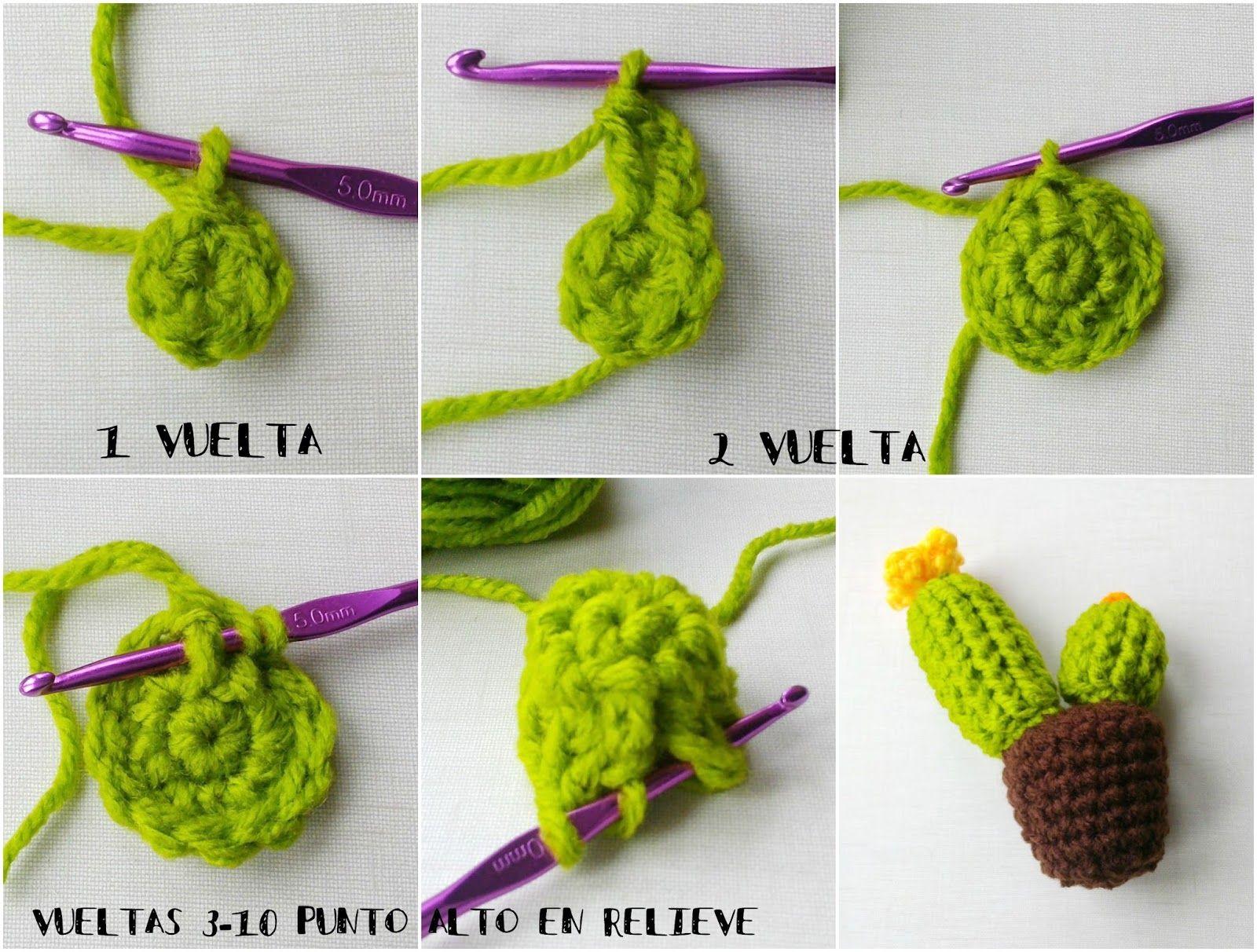 Cactus de Crochet - Tres Patrones Gratuitos !!! | Pinterest ...