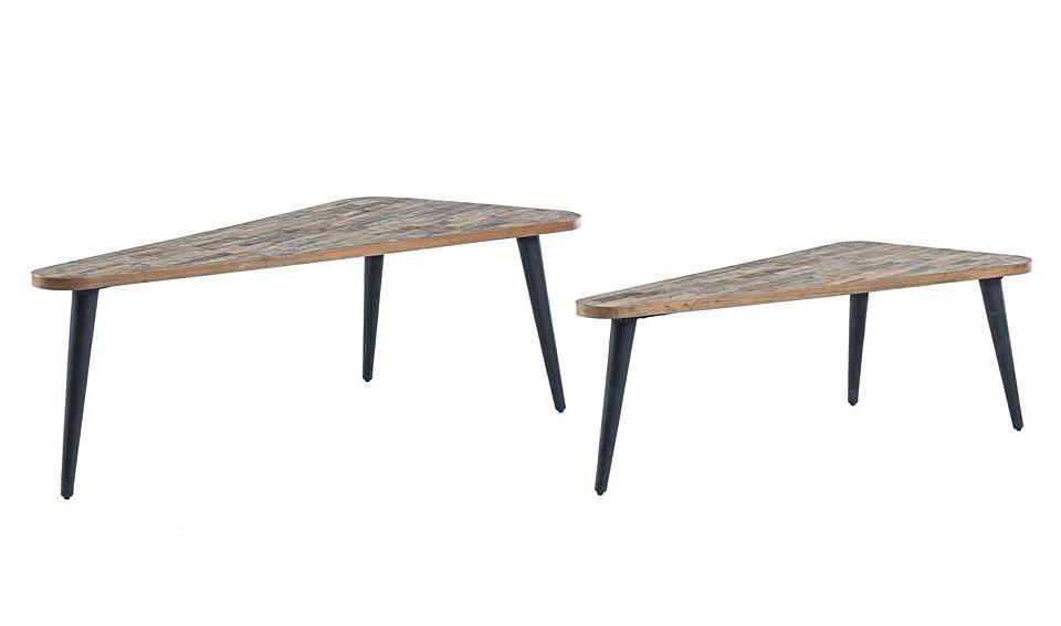 Set 2 mesas de centro industrial country en for Mesas industriales vintage