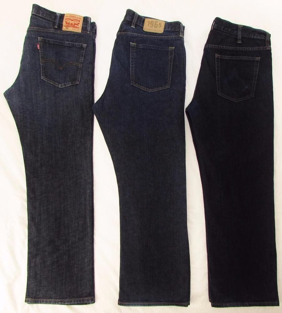 470a8bbb375 Men Lot 3 Pair Jeans Levi's 559 Gap 1969 Old Navy Relaxed Straight 38 X 31