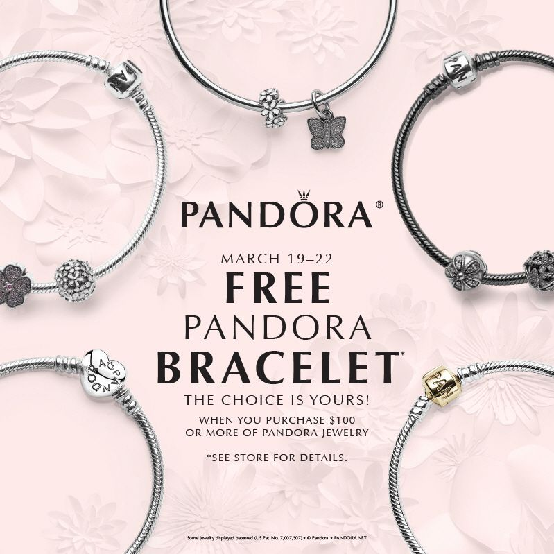 Free Pandora Bracelet At Benson Diamond Jewelers March 19th 22nd Pre Show Starts 12th