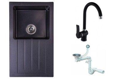 Zlew Zlewozmywak Granitowy Czarny Bateria Syfon 6580926978 Oficjalne Archiwum Allegro Sink Home Decor Decor