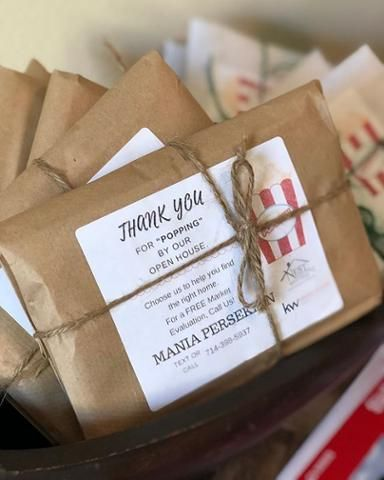 An Awesome Reverse Pop By Gift For An Open House Give It A Try This Buffini Company Mem Real Estate Client Gifts Real Estate Coaching Pop Bys Real Estate
