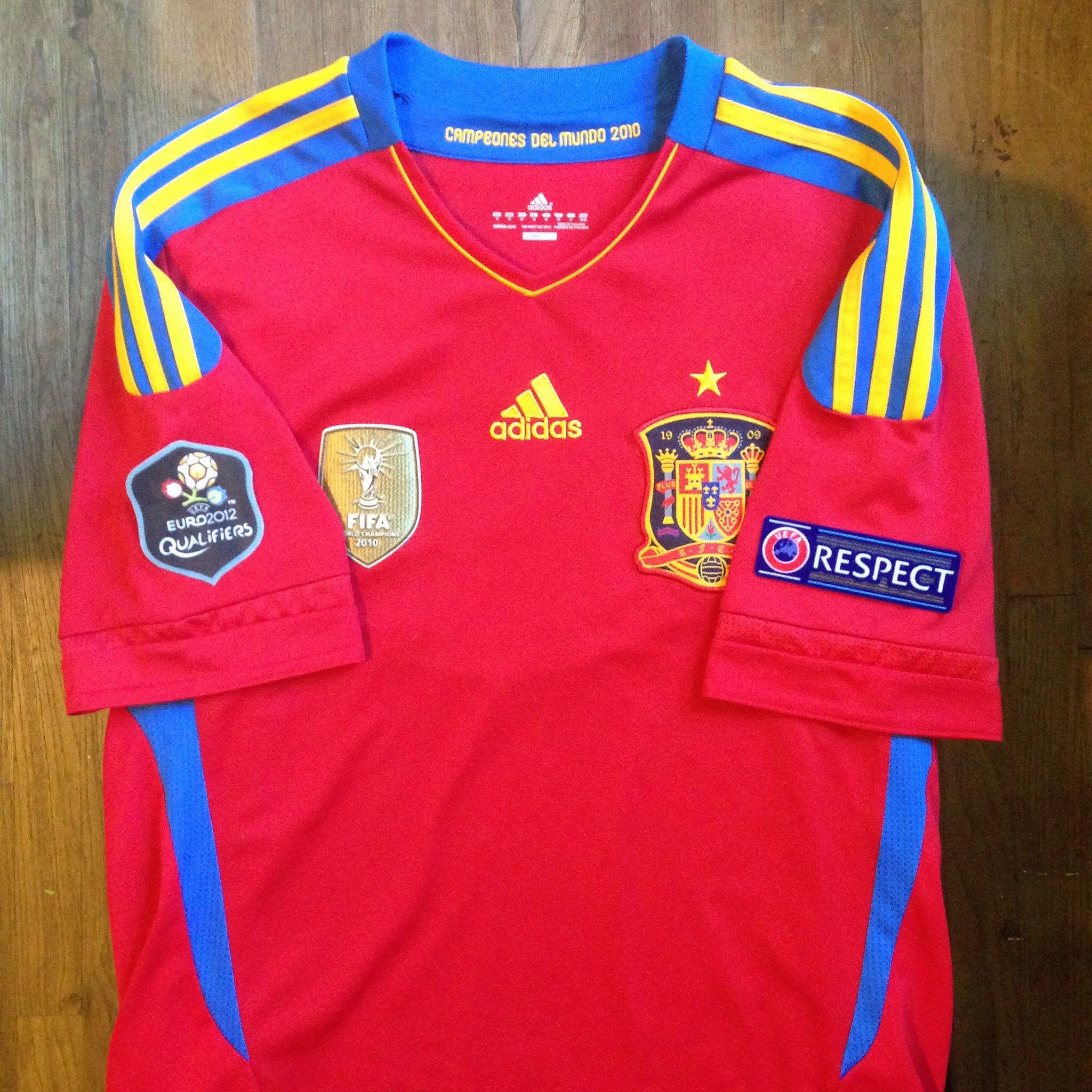 3850d491048 Qualifiers UEFA Euro 2012 Poland-Ukraine 2011 Spain Home Jersey    Primera  Equipación de la Selección Española 2011 para la clasificación de la  Eurocopa ...