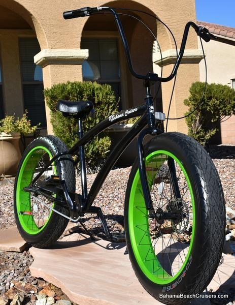 3 Sd Beach Cruisers Black Frame Green Wheels