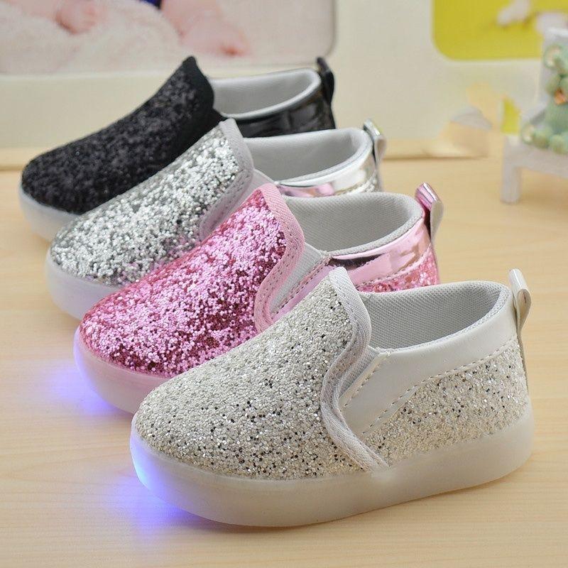 67254b007 Kids Baby Boys Gilrs velcro Anti- Slip Wearable Breathable Soft Soled  Comfortable LED Light Prewalker