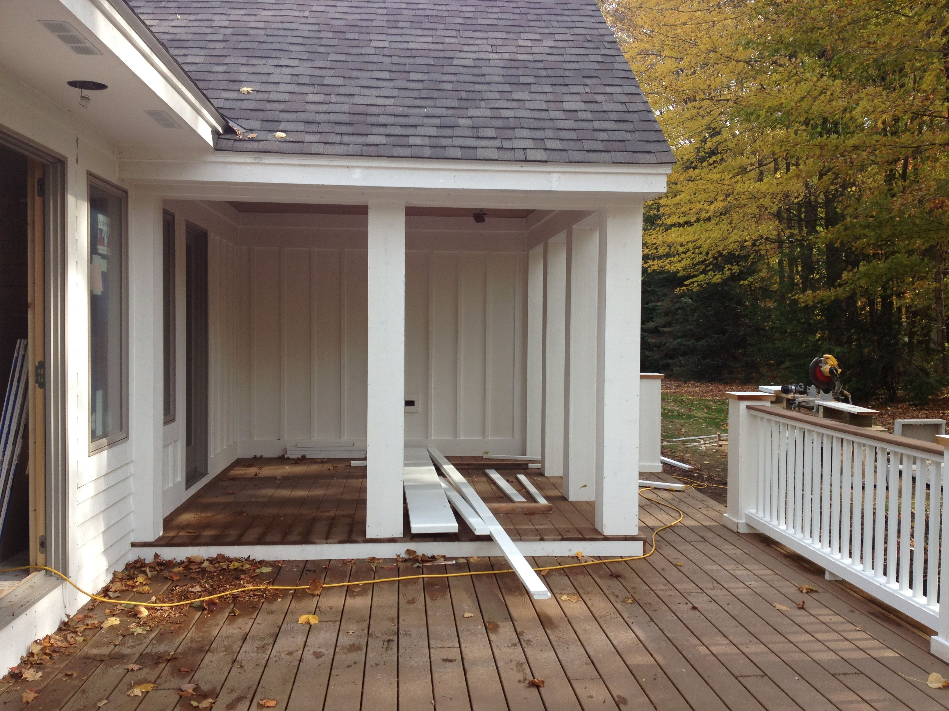 2 level deck half covered and half open covered on steps in discovering the right covered deck ideas id=67925