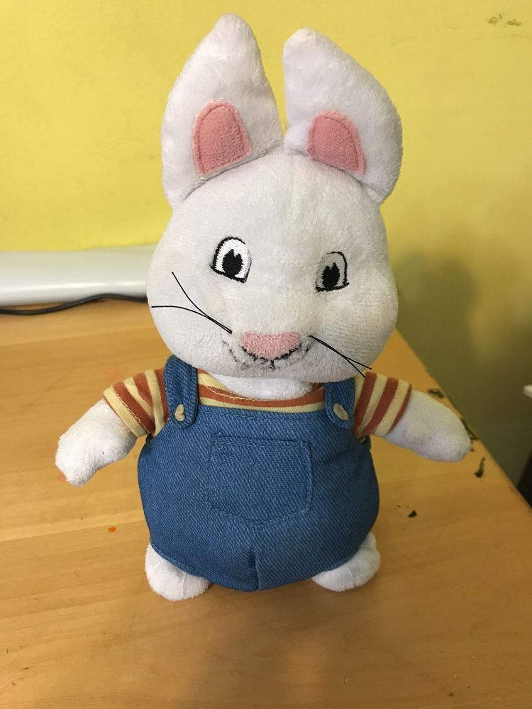 36e5bbac194 Max From Max And Ruby plush toy doll nick jr bunny white overalls ...