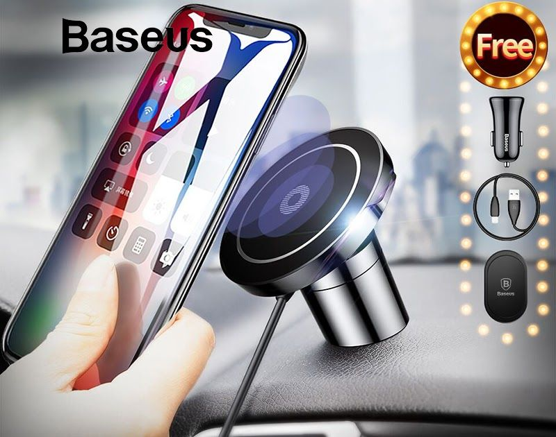 Big SALE Baseus Magnetic Qi Wireless Charger For iPhone X XS