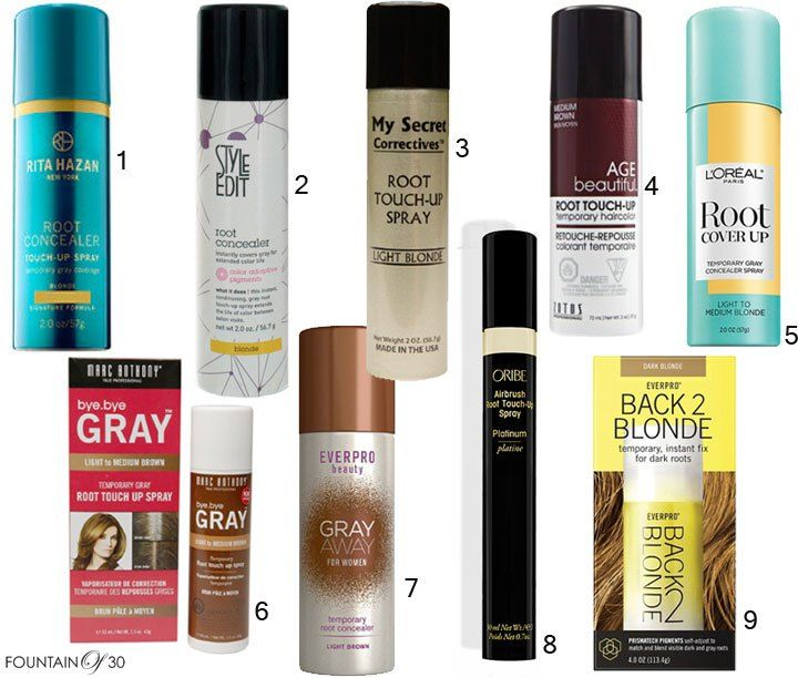 Got Grays May I Suggest Root Concealer Sprays Grey Hair Touch