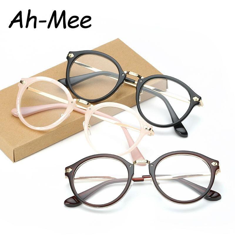 3164b454fc8b Fashion Women Eyeglass Frame Eyewear Brand Designer Plain Optical glasses  Classic Eyeglasses Frame Men prescription Frame F15019