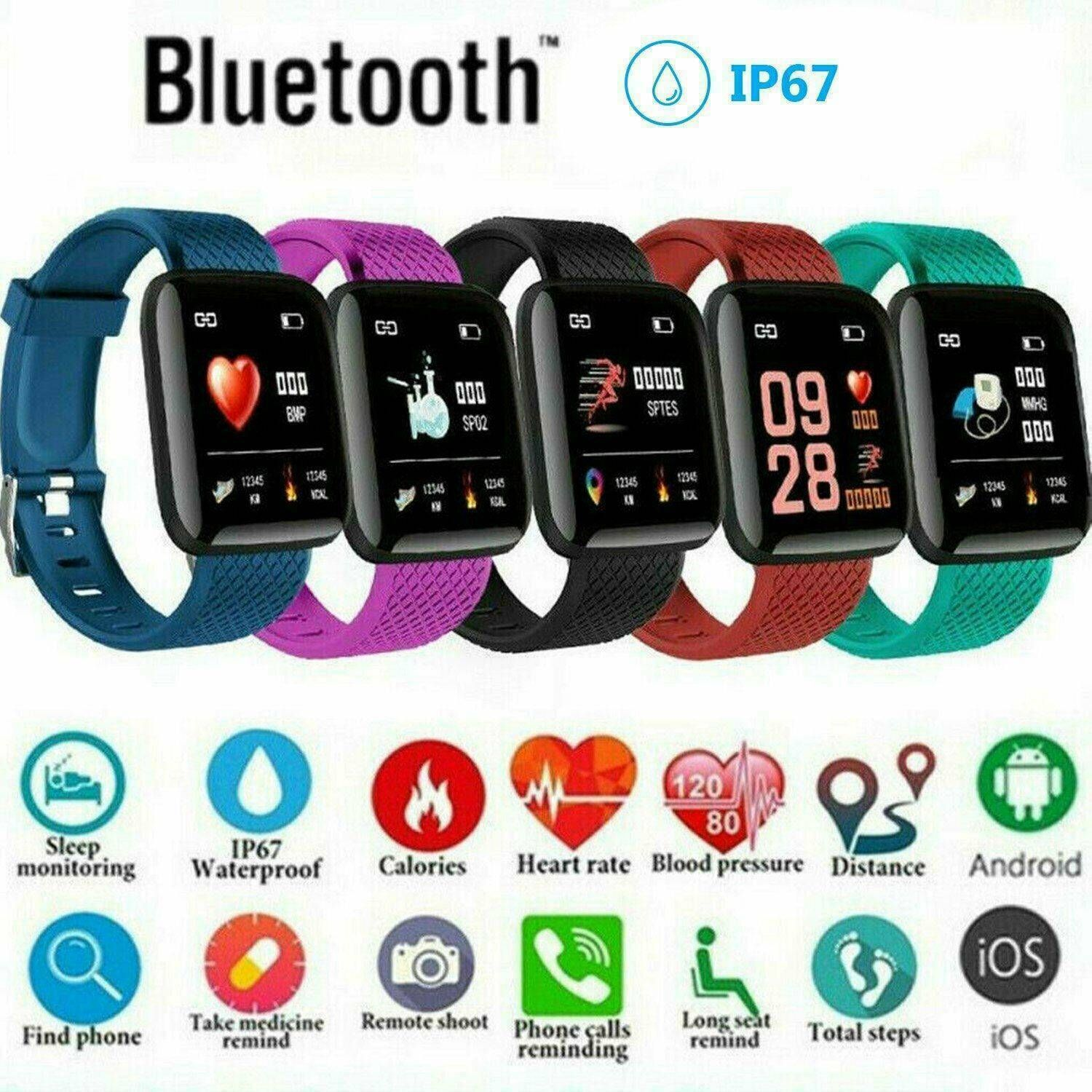 Fitness Smart Watch Band FIT -BIT Sport Activity Tracker For Kids Android iOS - Fitness Watch - Idea...