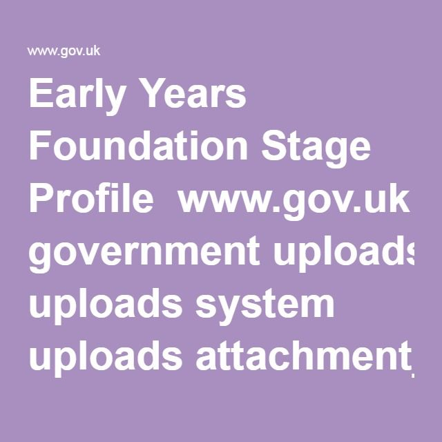 Early Years Foundation Stage Profile wwwgovuk government uploads - Service Forms In Pdf