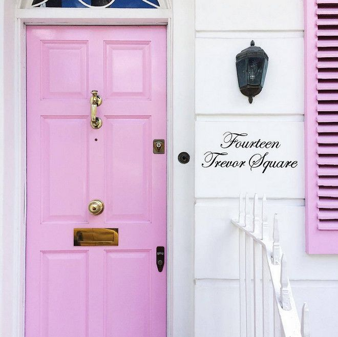 Pink Door Paint Color And Shutters Front Pinkdoor Pinkfrontdoor Pinkshutters Via The Neotrad