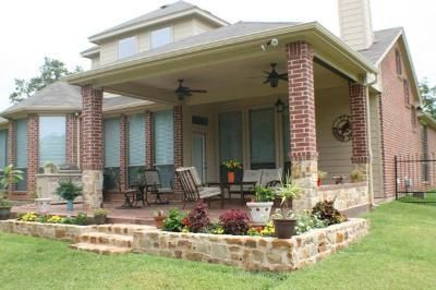 idea for extending a covered patio off of our detached garage for the outdoor kitchen - Extended Patio Ideas