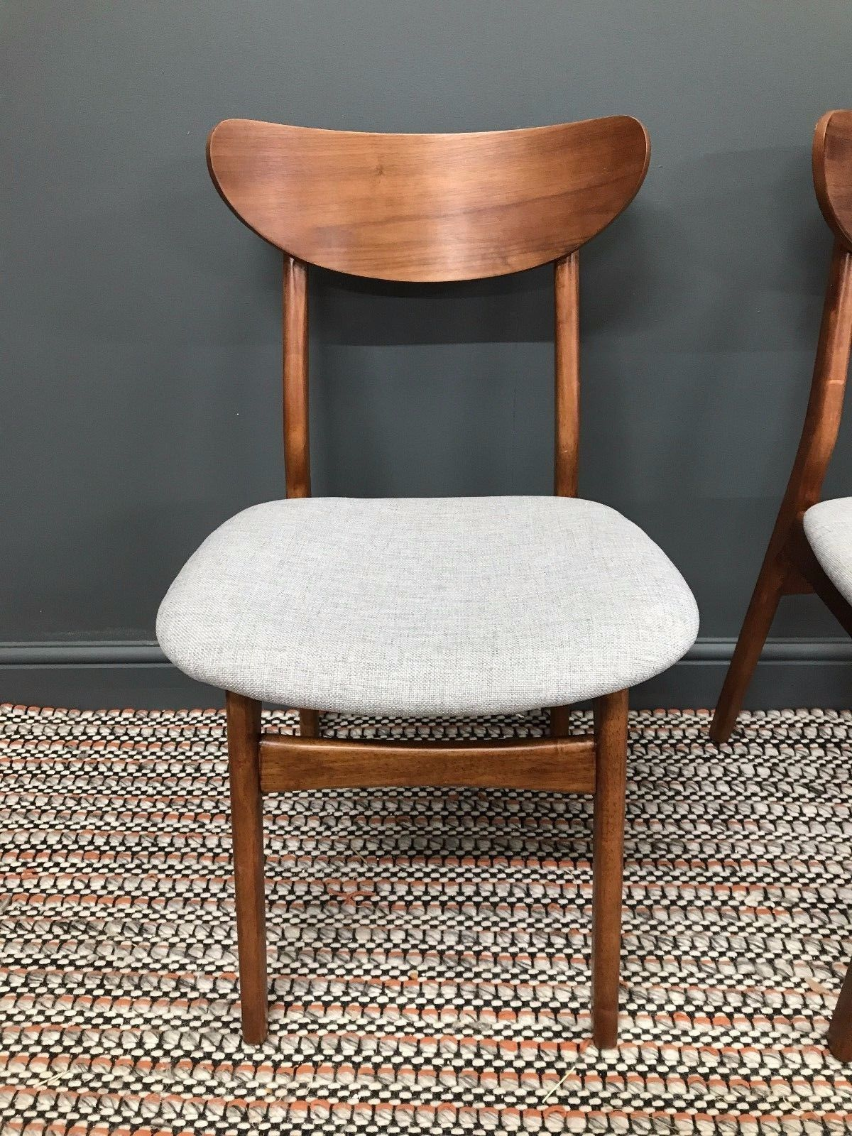 pair of mid-century classic cafe chairswest elm