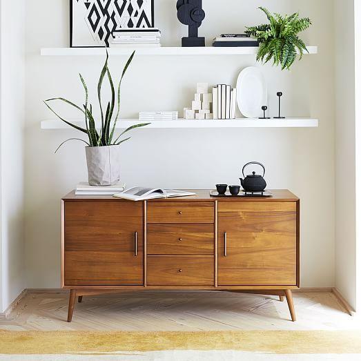 Crinkle Baskets Gray In 2020 Mid Century Buffet Mid Century Sideboard Modern Bedroom Furniture