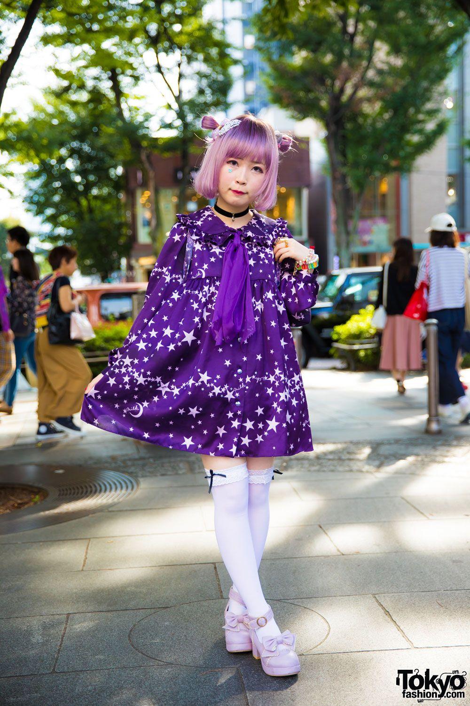 22efde3b0b Kawaii Purple Street Fashion in Harajuku w/ Milk, Swimmer, Monomania,  Monster Berry & Disney Store