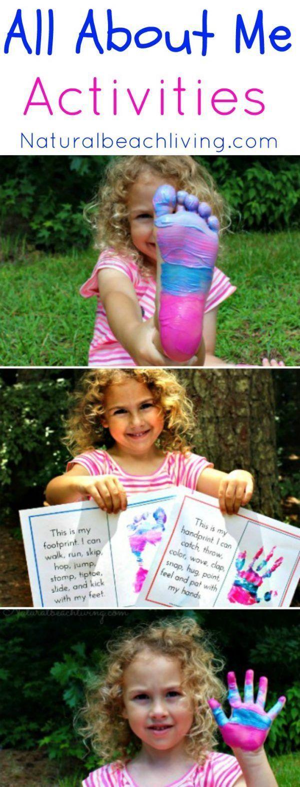 All About Me Activity Theme for Preschool & Kindergarten - Natural Beach Living