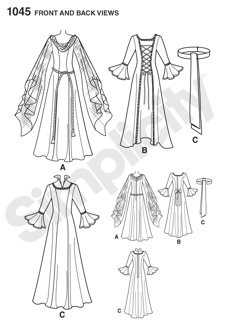 Simplicity 1045 Misses\' Fantasy Costumes | SEWING PROJECTS ...