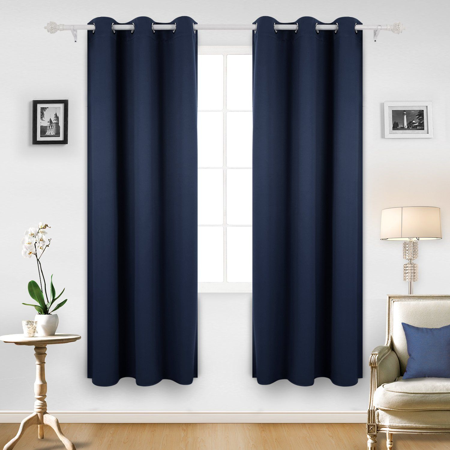 Blackout Blue Navy Blue Curtains Recipes With More Boys Room