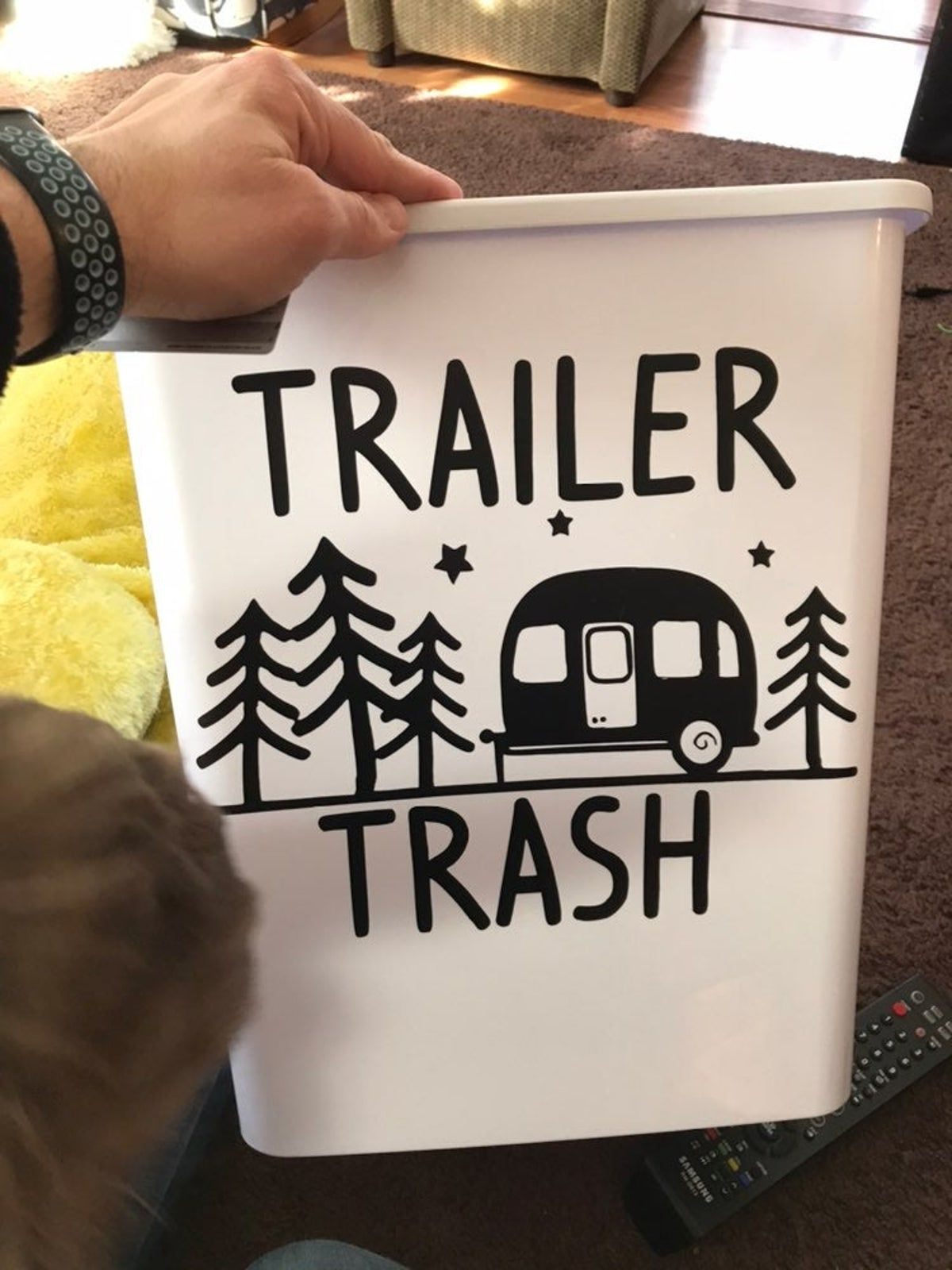 trailer trash garbage can- decal only on Mercari