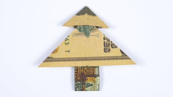 MONEY ORIGAMI Christmas Tree instructions, folding a tree out of Dollars -  YouTube - MONEY ORIGAMI Christmas Tree Instructions, Folding A Tree Out Of