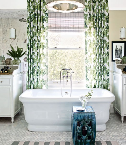 7 Not At All Depressing Shower Curtains Plus Chic Ways To Style Them Traditional Bathroom Home Grey Bathrooms
