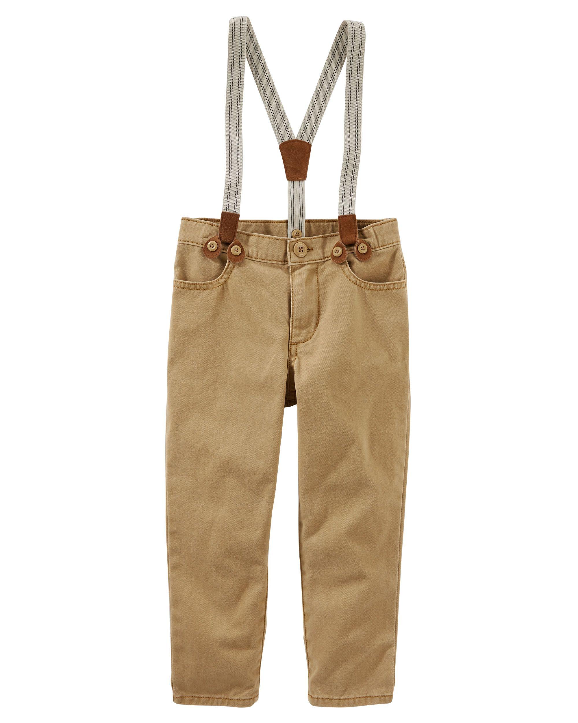 OshKosh BGosh Baby Boys Suspender Twill Pants