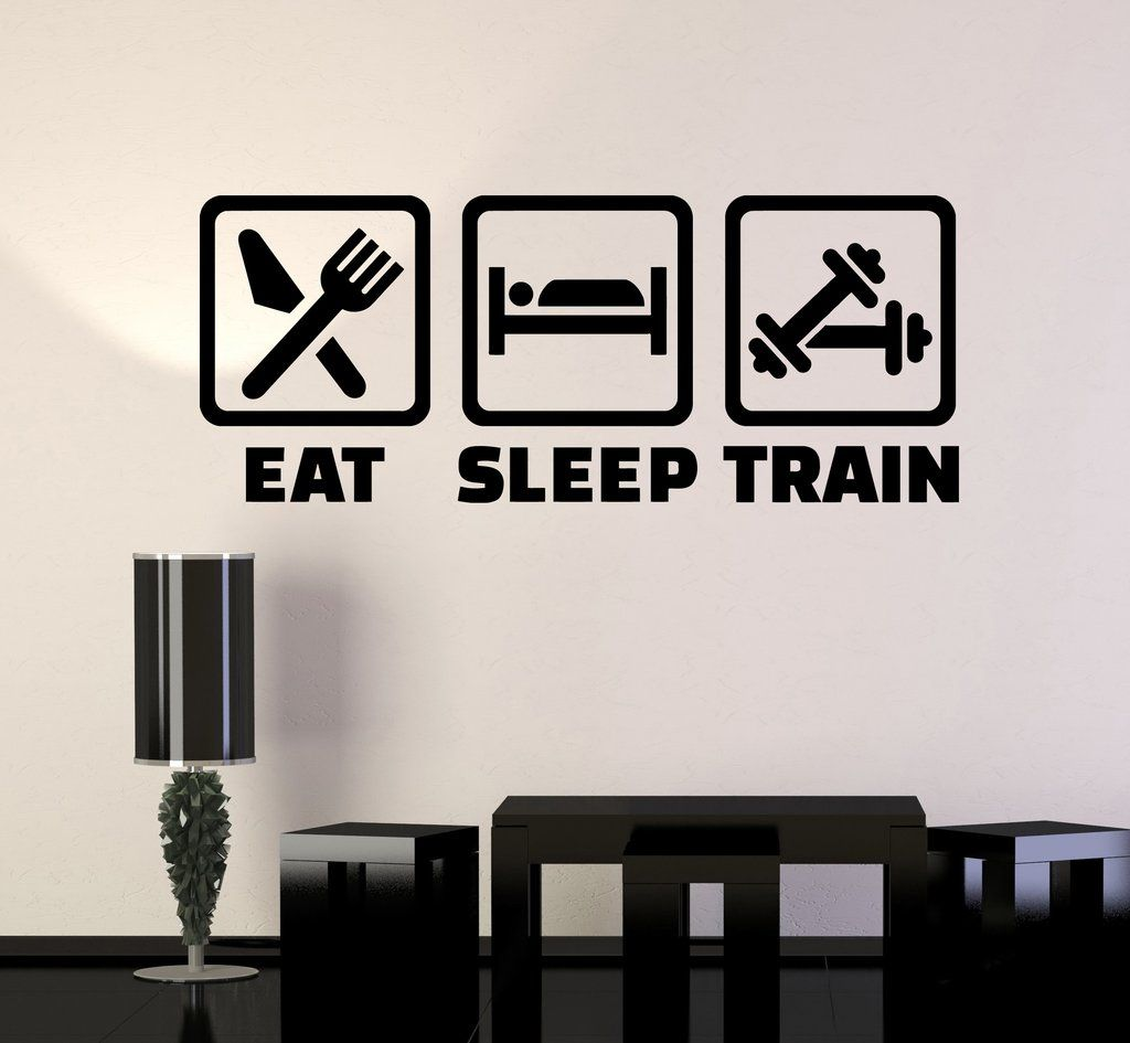 Vinyl Wall Decal Fitness Training Healthy Lifestyle Gym Stickers Unique Gift Ig4388 Gym Wall Stickers Gym Decor Vinyl Wall Decals