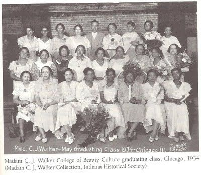 Madam C.J. Walker College of Beauty Culture Graduating Class of 1934 - Chicago, IL