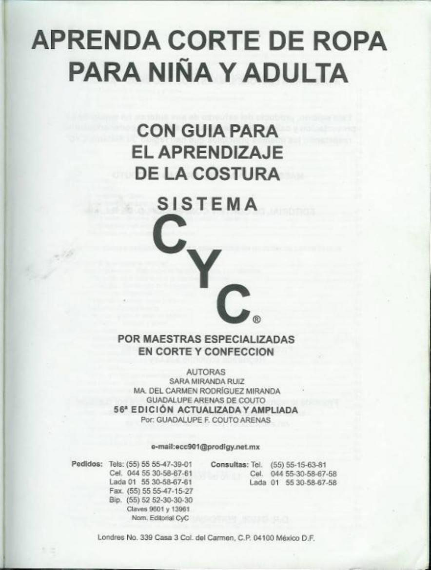 Cyc - Aprenda Corte De Ropa Para Niña Y Adulta 1 - Documents ...