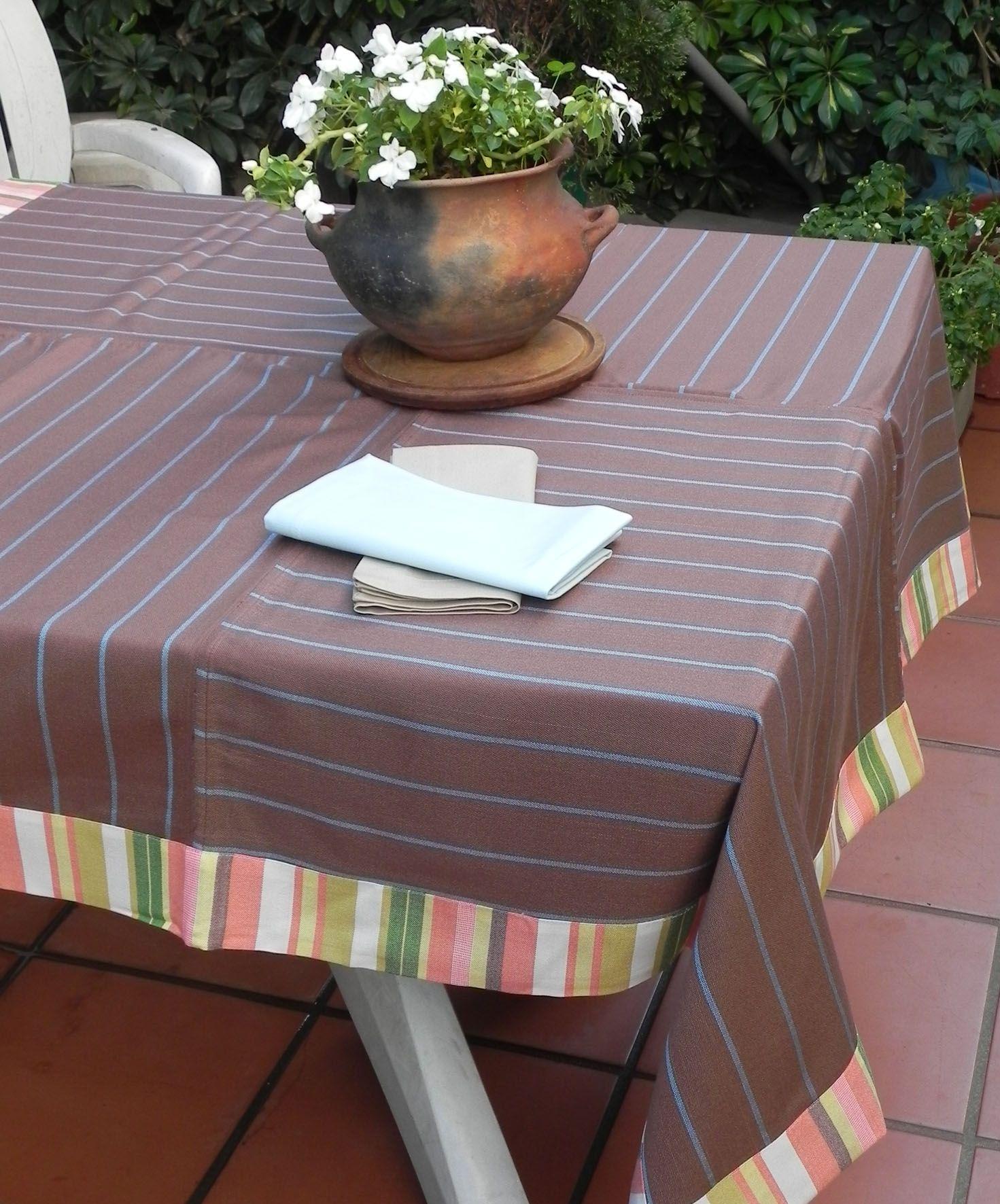 Manteles para mesas grandes con telas a elecci n for Manteles de mesa
