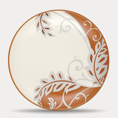 "Noritake Colorwave 8.25"" Plume Plate Color: Terra Cotta"