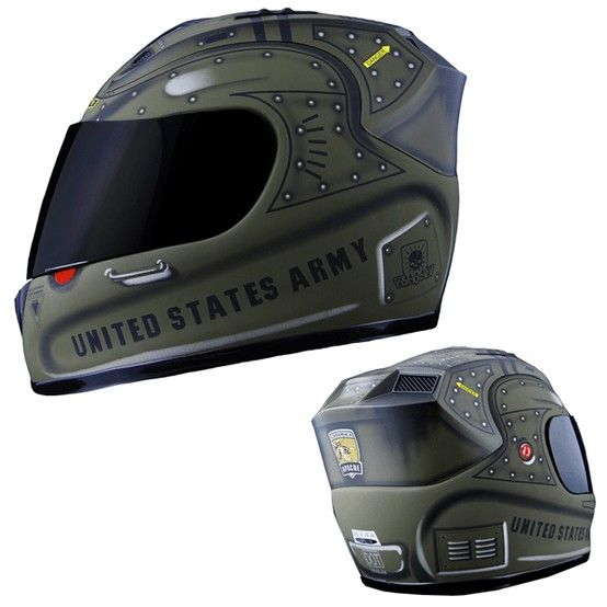 United States Army Motorcycle Helmet Army Green