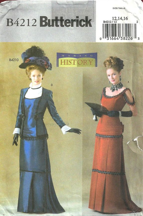 Butterick Historical Dress Pattern sizes 12 14 16 by SewReallyCute ...