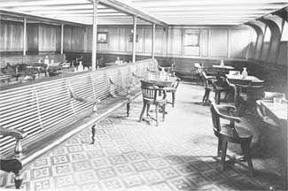 3rd class smoking room   the titanic~100 years ago   pinterest
