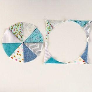 How to make circle Quilt blockマルの作り方 Patchwork Quilt パッチワークミシンキルトNakazawa Felisa 中沢フェリーサ