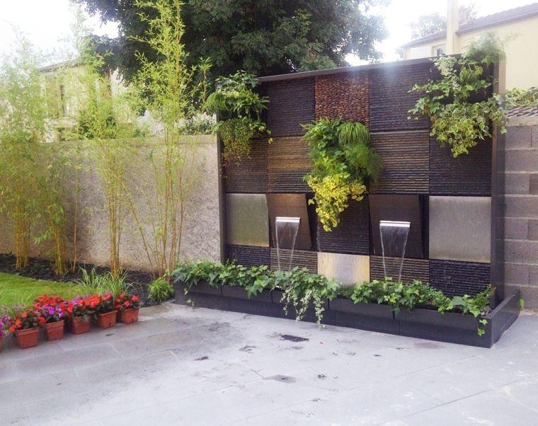 Pared fuente estilo zen jardin diseno fuentes exteriores - Jardin zen diseno ...